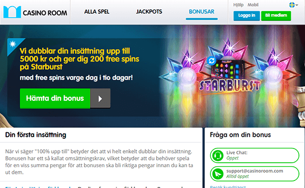 Casino room giros gratis