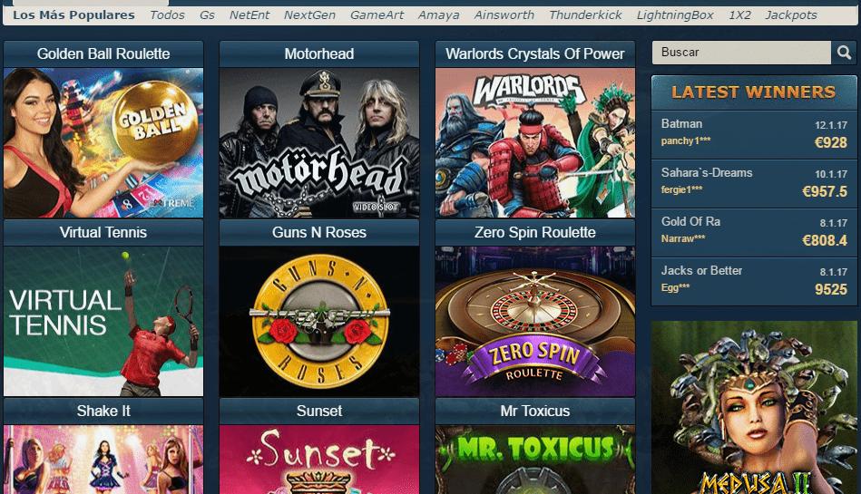 Oceanbets Casino-juegos