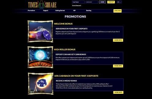 Times Square Casino promociones