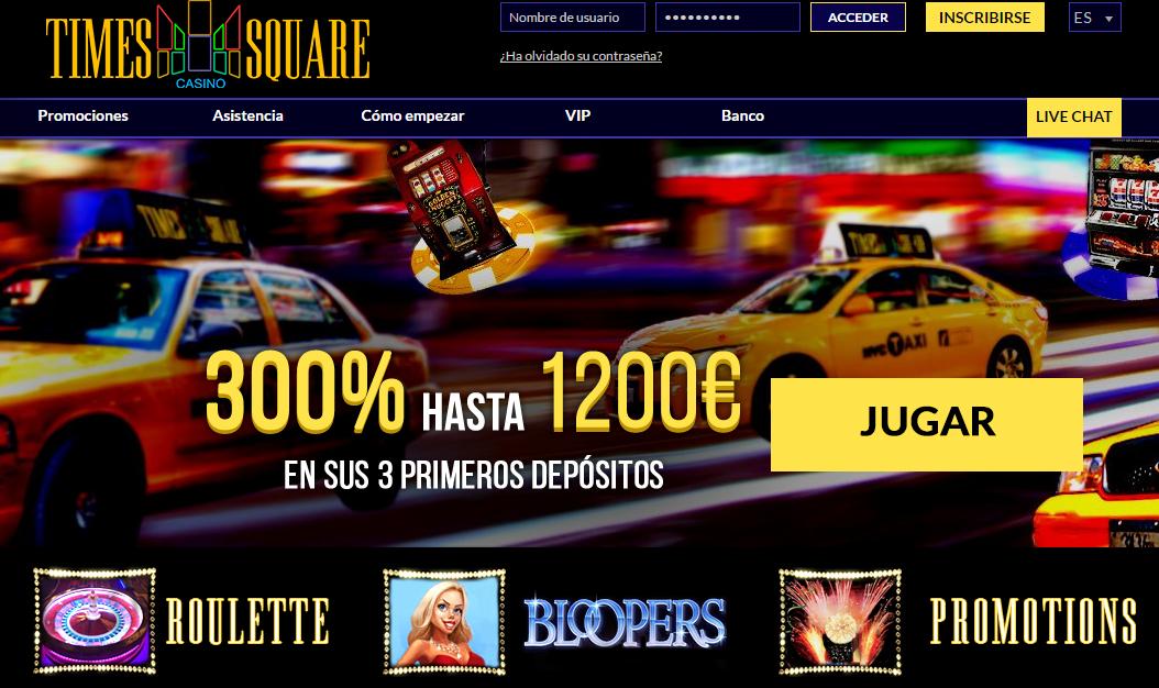 promocion 50% times square casino