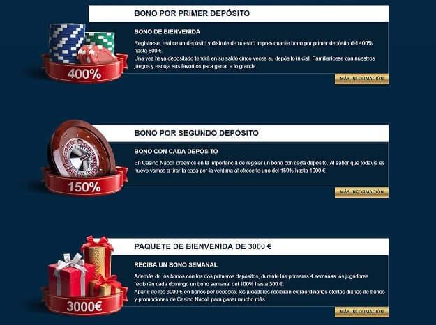 Casino napoli promociones