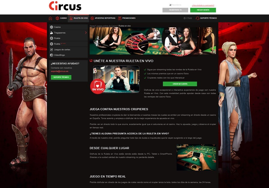 casino circus ruleta en vivo