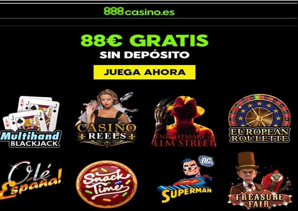 88 euros gratis promocionales por registro en 888 Casino