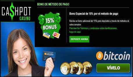 bono metodo ingreso cashpot