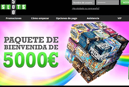slots 500 header