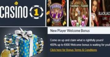 Bono de bienvenida hasta por 800 euros Casino 1