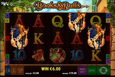 slot books and bulls