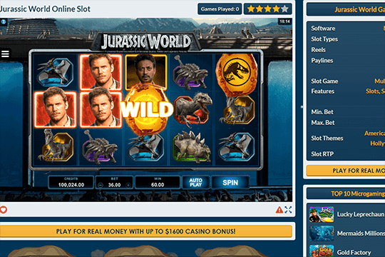 slot jurassic world