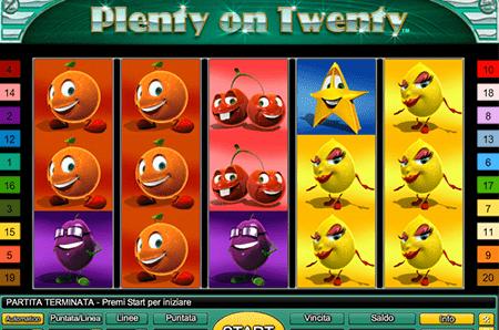 slot plenty of twenty
