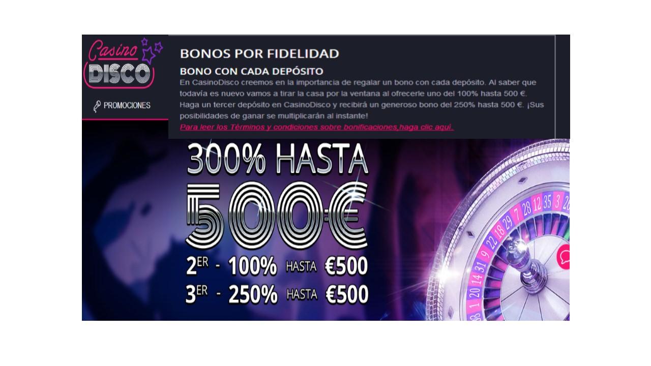 bono fidelidad casino disco