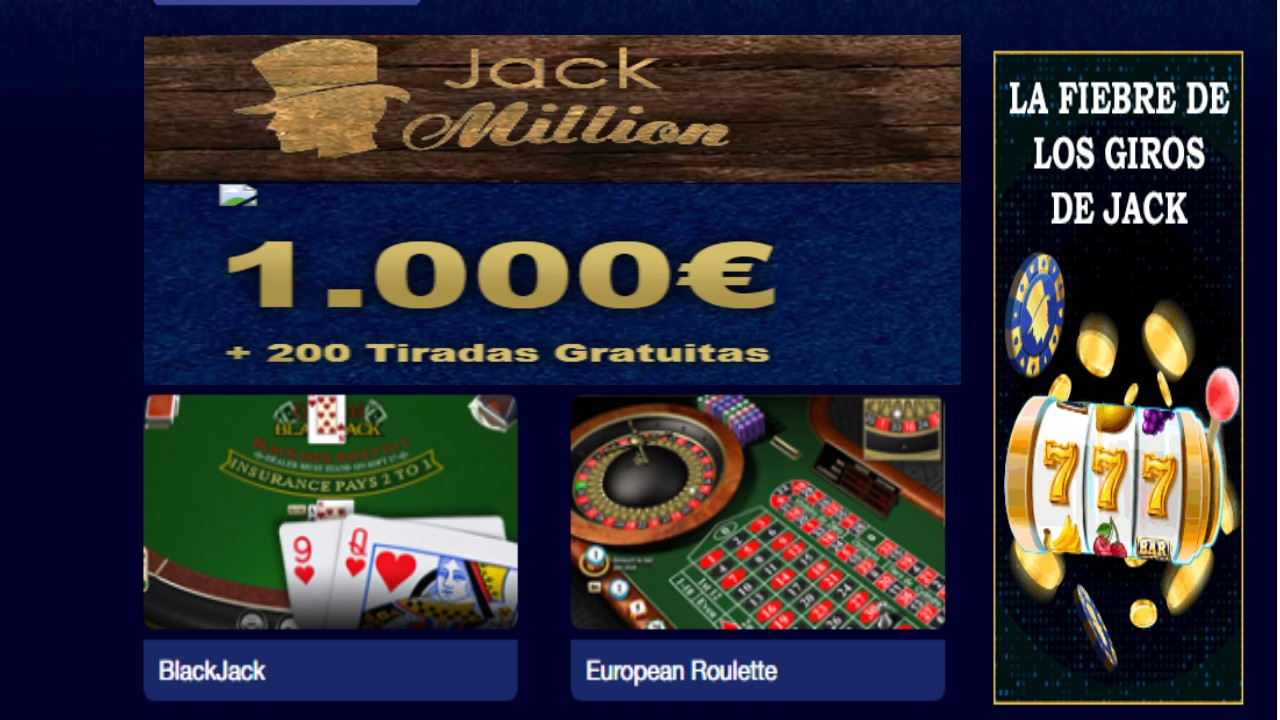 Lunes de giros gratis Jack Million