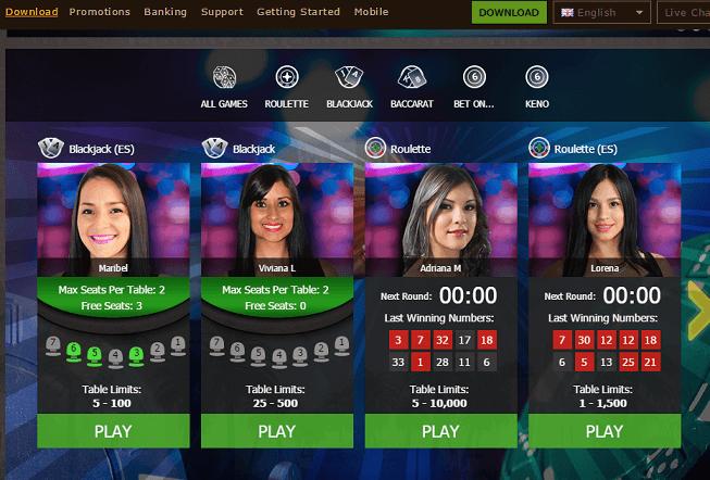 osiris casino juegos en vivo