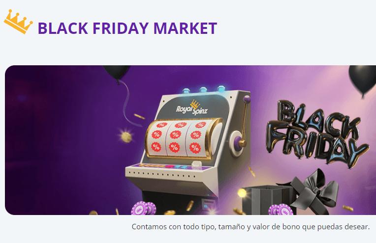 black Friday market royalspinz
