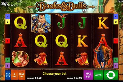 tragaperras books and bulls