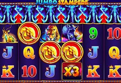 Jugando a la máquina Jumbo Stampede
