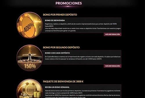 Casino Bordeaux bonos